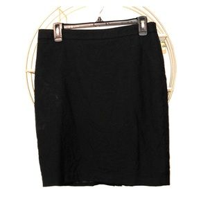 Jcrew #2 Black Pencil Skirt